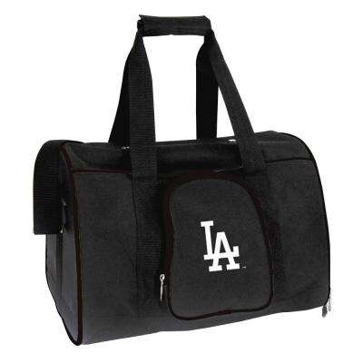 MLB Los Angeles Dodgers Pet Carrier Premium 16 in. Bag in Black