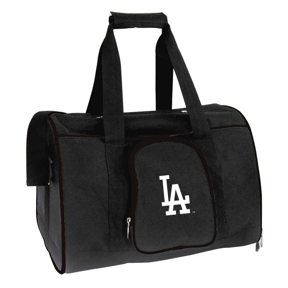 MLB Los Angeles Dodgers Pet Carrier Premium 16 in. Bag in Black