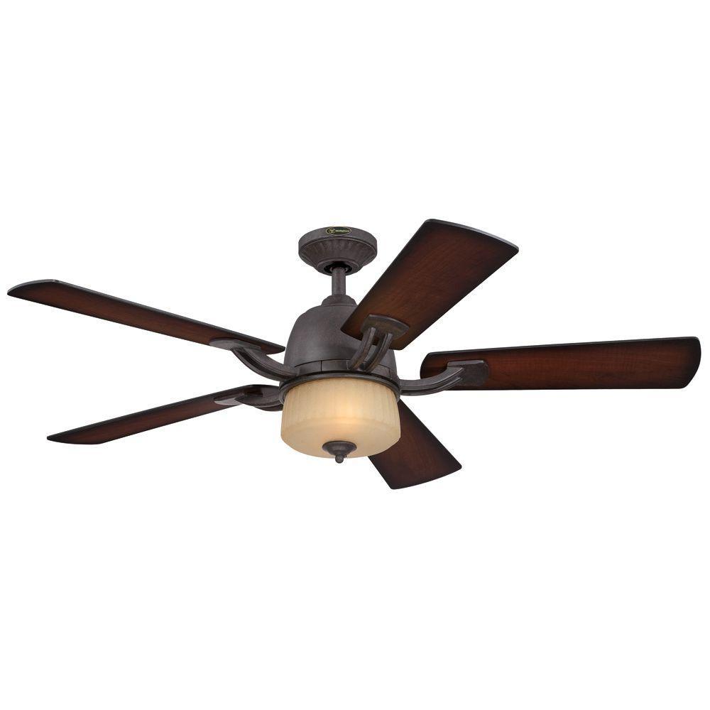 Ripley 52 in. Indoor Brownstone Ceiling Fan