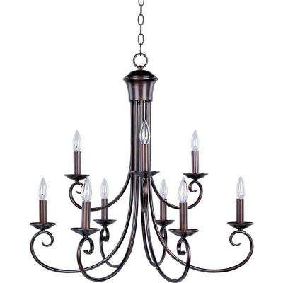 Loft 9-Light Oil-Rubbed Bronze Chandelier