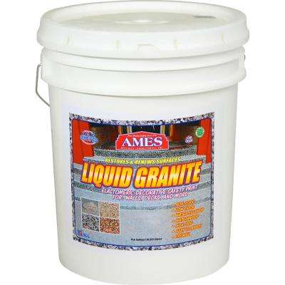 Liquid Granite 5 Gal Grey Protective Waterproof Decorative Floor Wall Coating