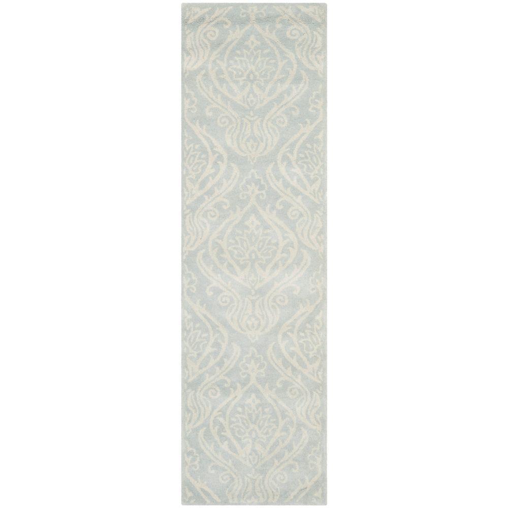 f49885d18 Safavieh Bella Silver Ivory 2 ft. x 8 ft. Runner Rug-BEL445A-28 ...