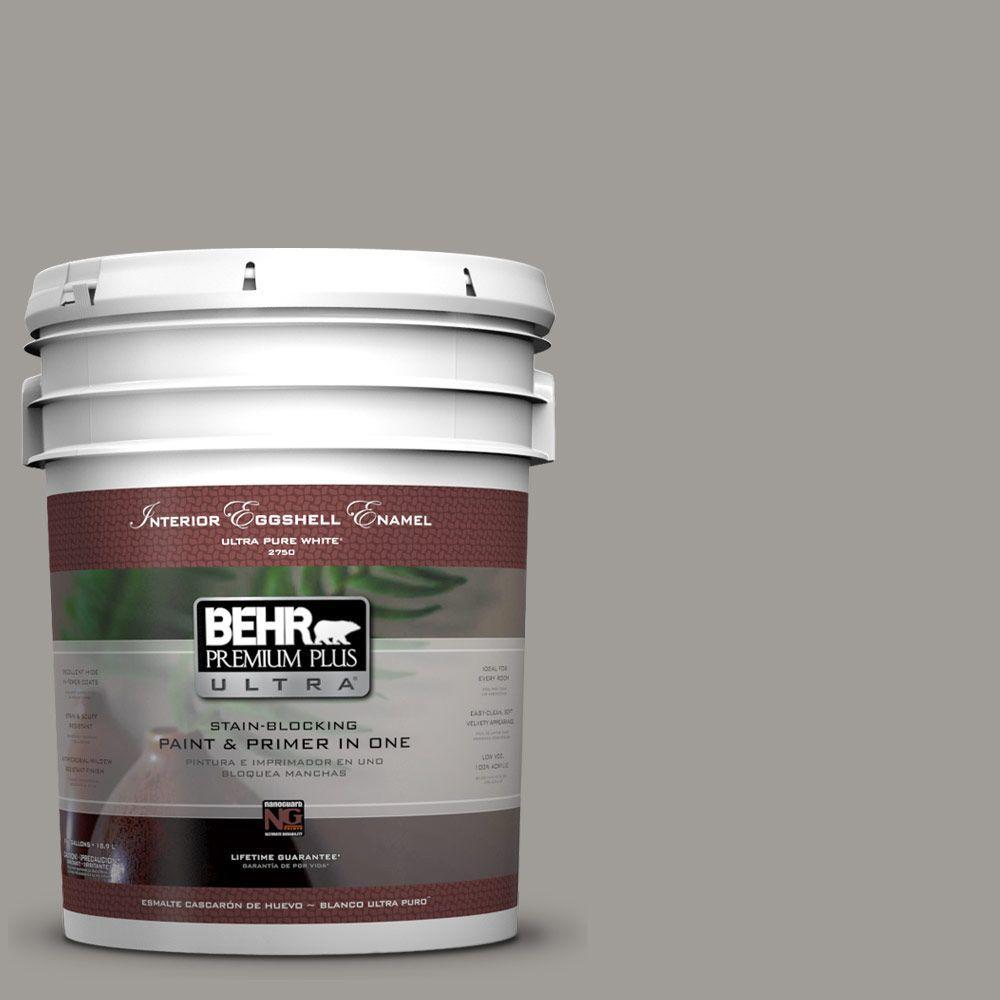 5-gal. #BNC-17 Casual Gray Eggshell Enamel Interior Paint