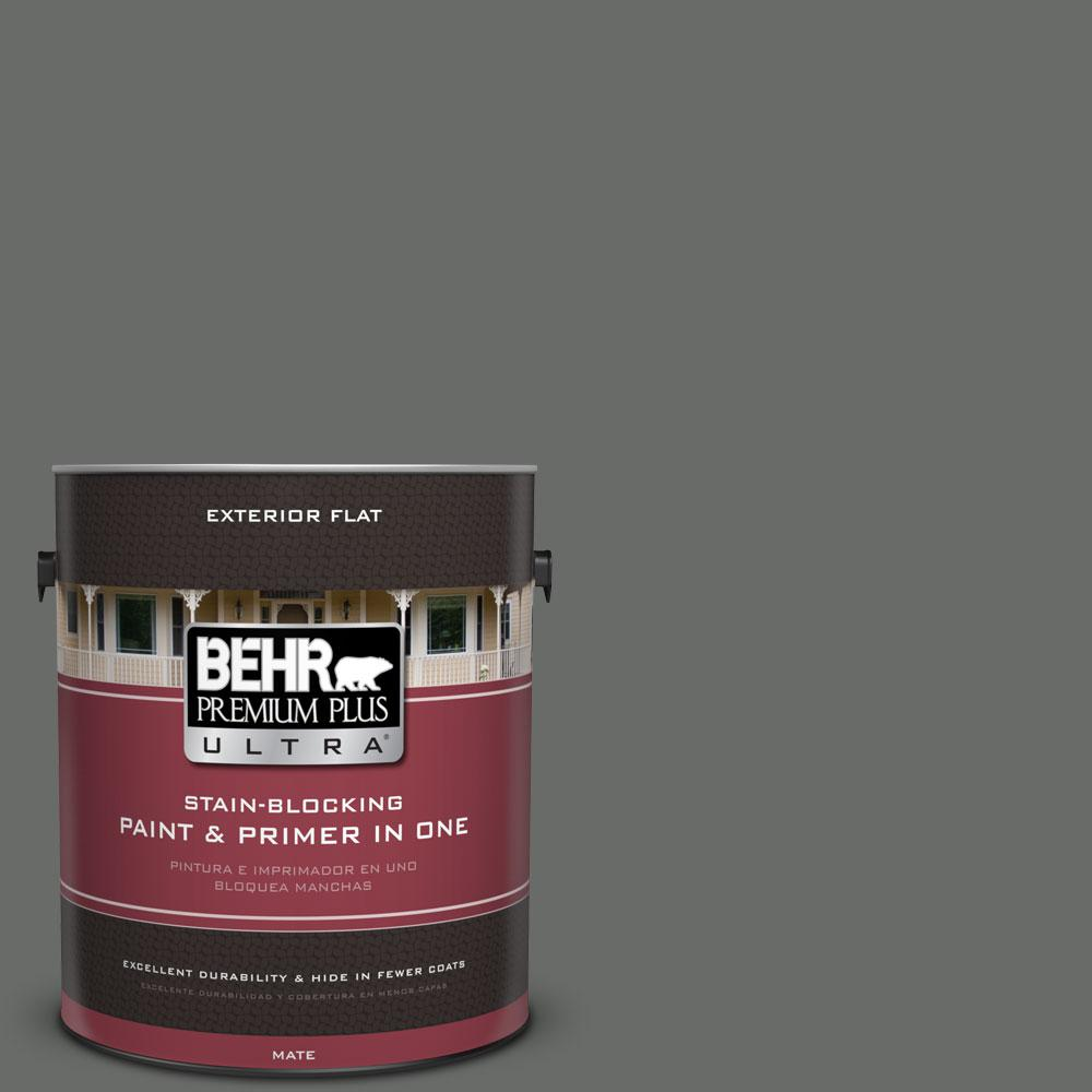 BEHR Premium Plus Ultra 1-gal. #BNC-26 Lunar Basalt Flat Exterior Paint