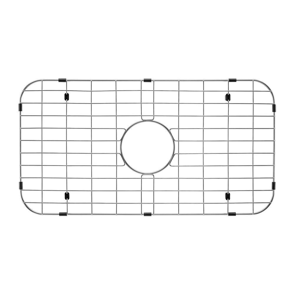 14 in. x 18 in. x 10 in. Stainless Steel Undermount Kitchen Sink Grid