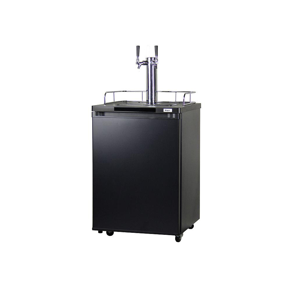 Toywatch Kegco Full Size Beer Keg Dispenser with Double T...