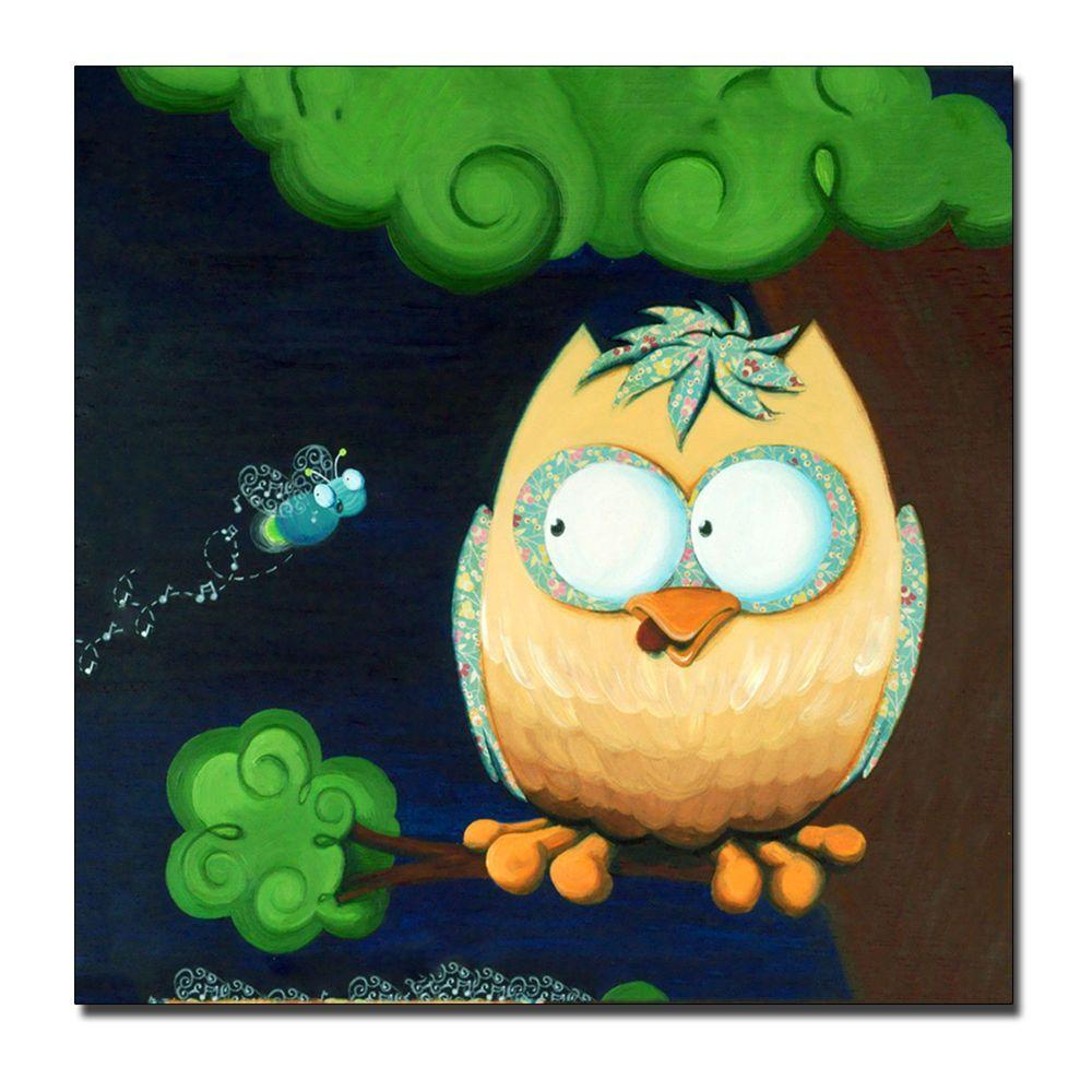 Trademark Fine Art 14 In X Owl Canvas Art SM019