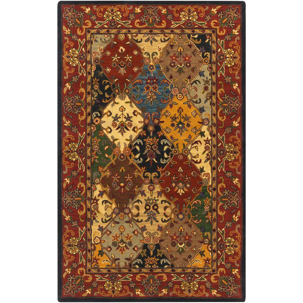 Buckingham Natalie Burgundy 5 ft. x 8 ft. Indoor Area Rug