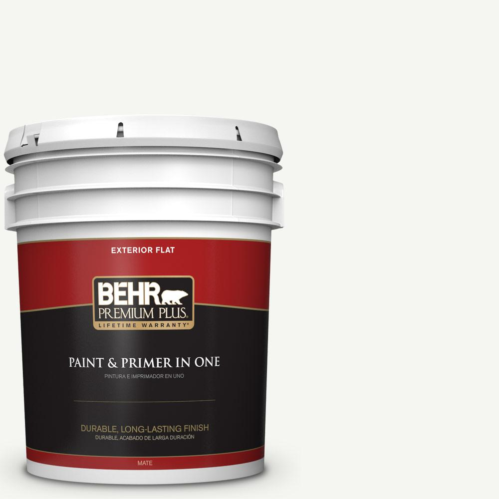 5 gal. #HDC-CT-18G Cotton Ball Flat Exterior Paint