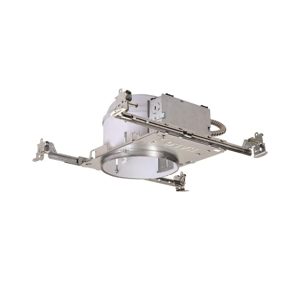 Halo H27 6 in. Steel Recessed Lighting Housing for New Construction Shallow Ceiling, No Insulation Contact