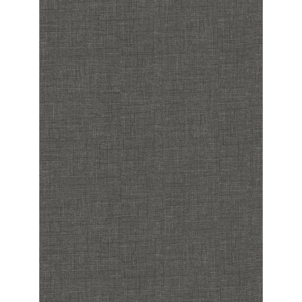 60.8 sq. ft. Louis Black Distressed Texture Wallpaper