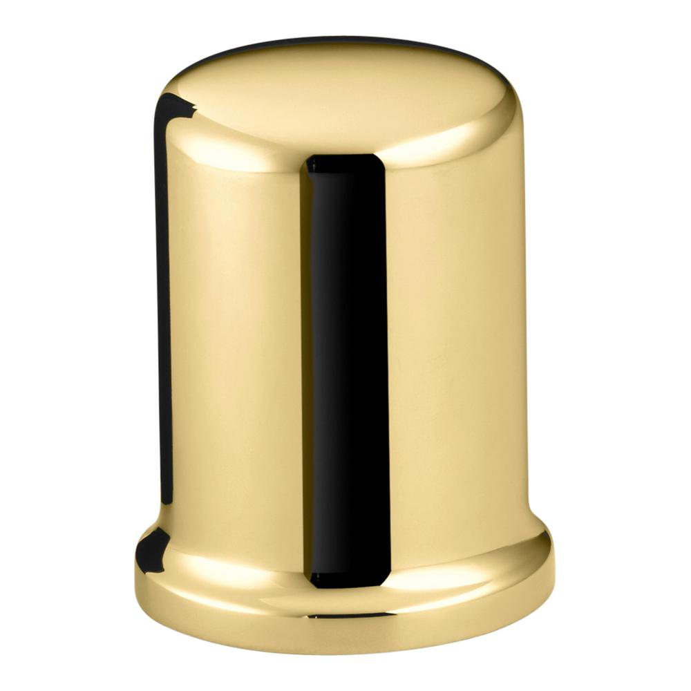 Air Gap Cover with Collar in Vibrant Polished Brass