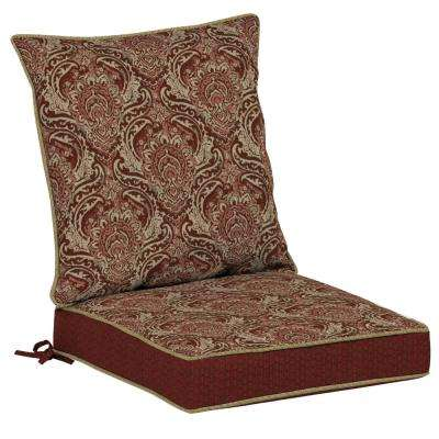 Venice 2-Piece Outdoor Dining Chair Cushion