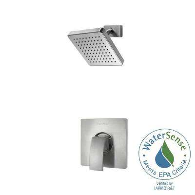 Kenzo Single-Handle Shower Faucet Trim Kit in Brushed Nickel (Valve Not Included)