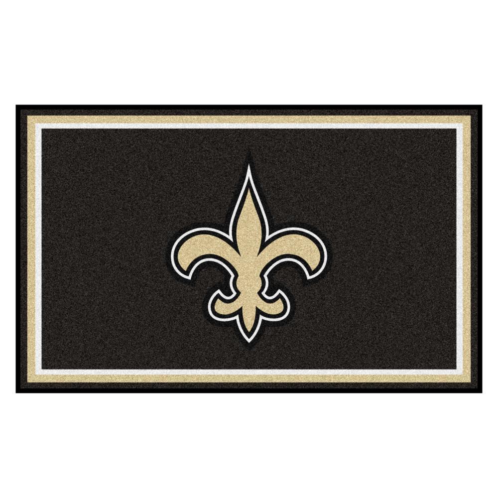 New Orleans Saints 4 ft. x 6 ft. Area Rug