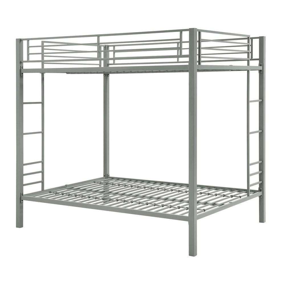 Dhp Corey Silver Full Over Full Metal Bunk Bed De21807