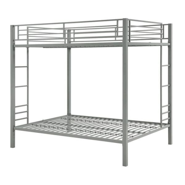 DHP Corey Silver Full Over Full Metal Bunk Bed