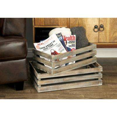 Rustic Wood Crates (Set of 3)