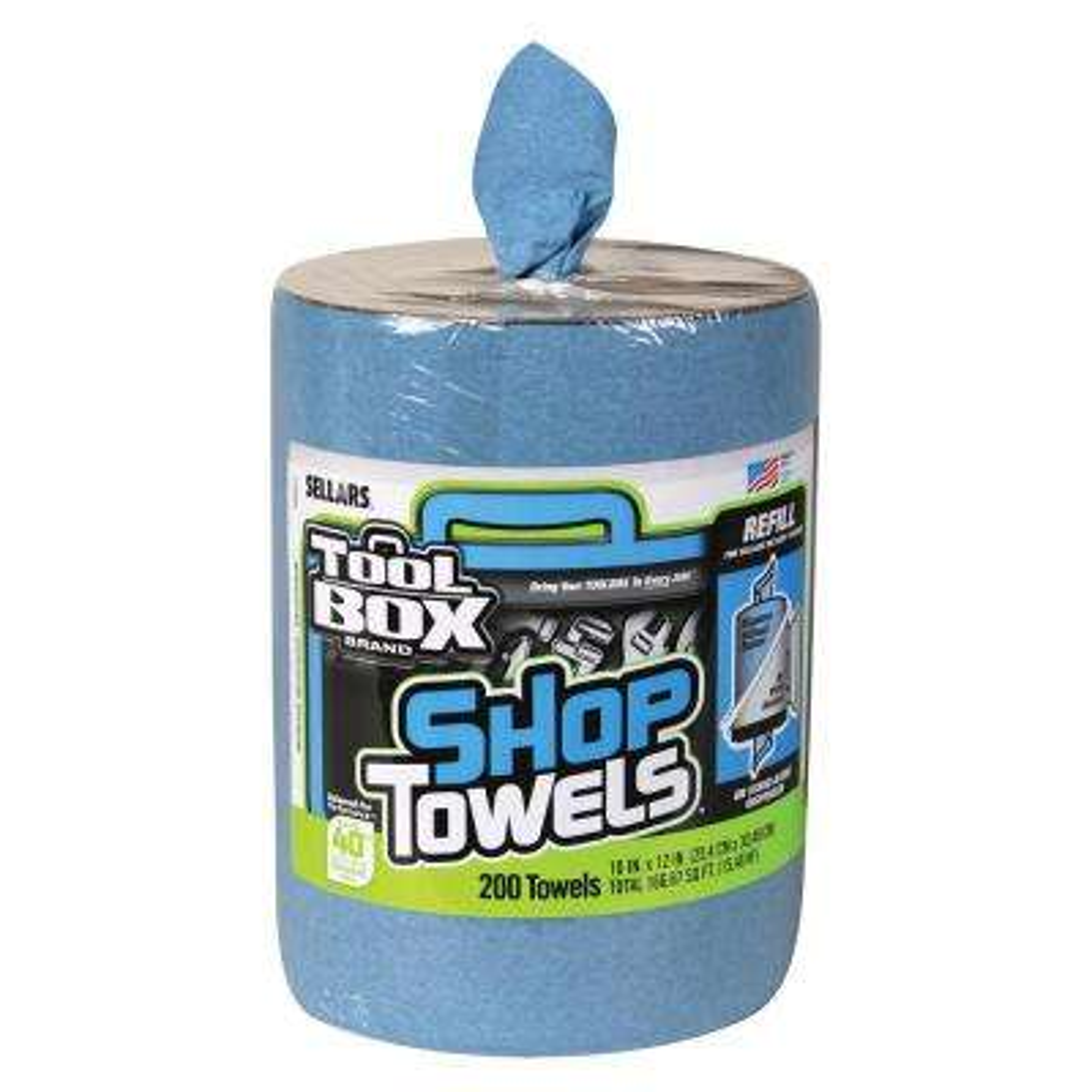 Z400 200-Count Big Grip Blue Shop Towels Refill (6-Pack)