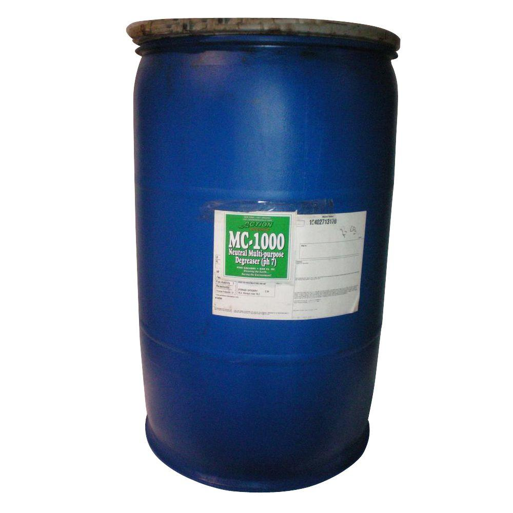ACTION ORGANIC 1-55 Gal. Drum Organic Neutral All-Purpose Cleaner with Available Cherry Scent (at 50% Concentrate)