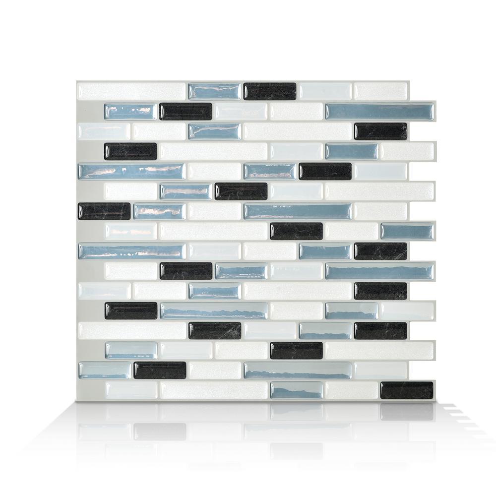 Muretto Brina Multi 10.20 in. W x 9.10 in. H Peel and Stick Decorative Mosaic Wall Tile Backsplash (4-Pack)