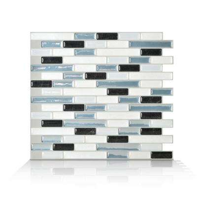 Muretto Brina Blue 10.20 in. W x 9.10 in. H Peel and Stick Self-Adhesive Decorative Mosaic Wall Tile Backsplash (6-Pack)