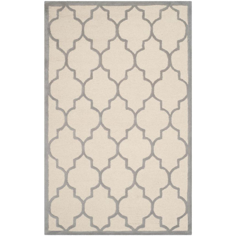 Cambridge Ivory/Silver 4 ft. x 6 ft. Area Rug