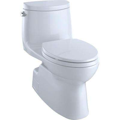 Carlyle II 1-Piece 1.28 GPF Single Flush Elongated Skirted Toilet with CeFiONtect in Cotton White