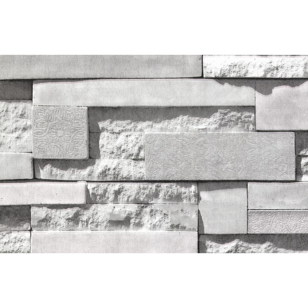 Grey Mineral Siding Faux Materials Adhesive Film (Set of 2)