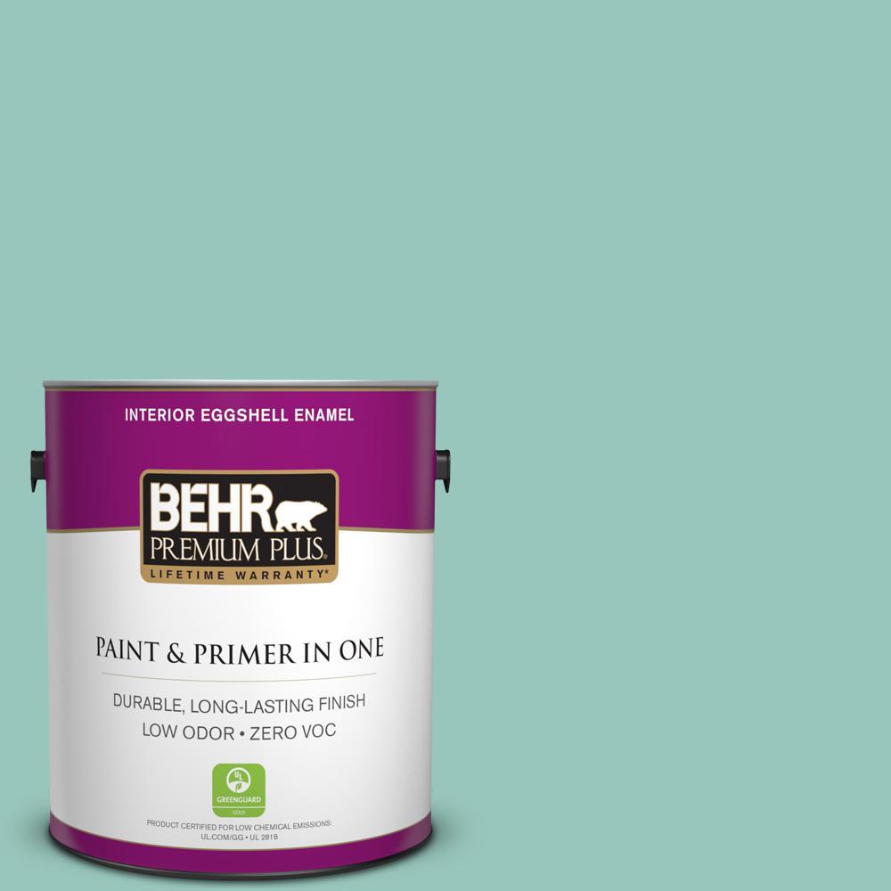BEHR Premium Plus 1-gal. #490D-4 Eucalyptus Leaf Zero VOC Eggshell Enamel Interior Paint