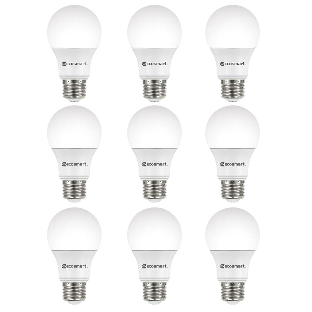 Ecosmart 40w Equivalent Soft White A19 Dimmable Filament: EcoSmart 60-Watt Equivalent A19 Non-Dimmable LED Light
