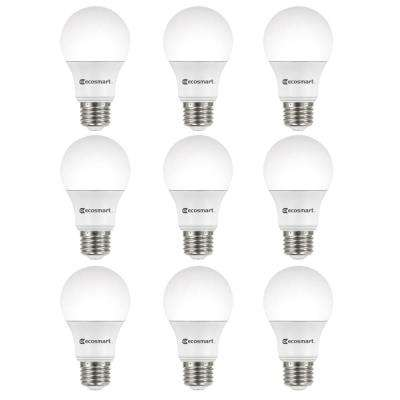 60-Watt Equivalent A19 Non-Dimmable LED Light Bulb Soft White (9-Pack)