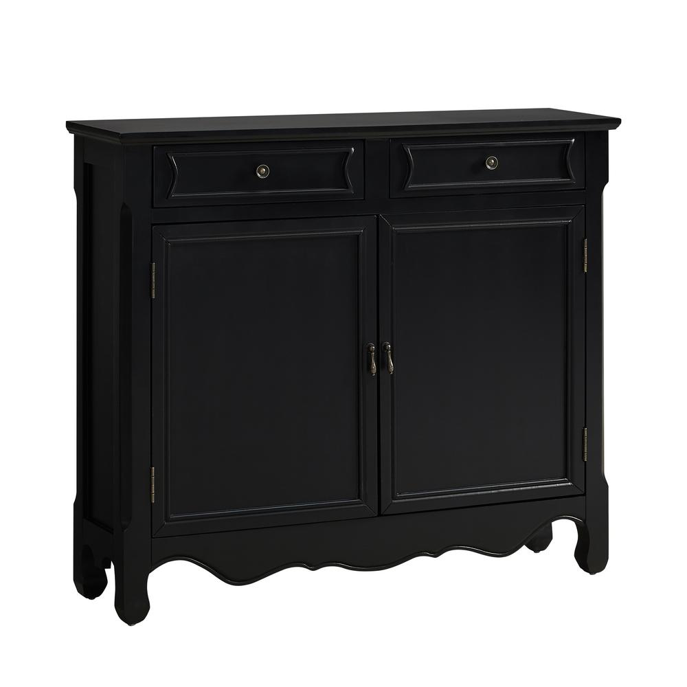 Powell Black Console Table