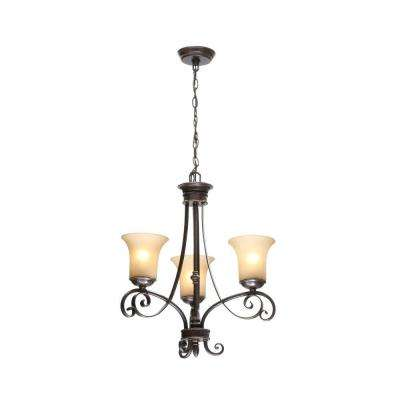 Essex 3-Light Aged Black Chandelier