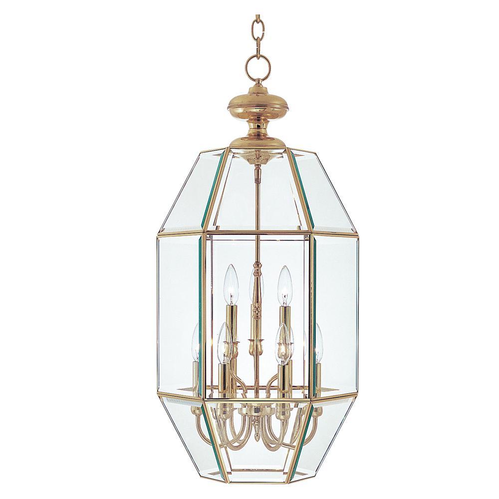 Bound Glass 9-Light Polished Brass Entry Foyer Pendant