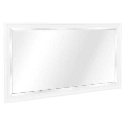 Shaelyn 60 in. W x 32 in. H Single Framed Wall Mirror in White