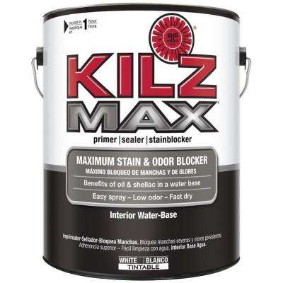 MAX 1 gal. White Water-Based Interior Primer, Sealer and Stain-Blocker