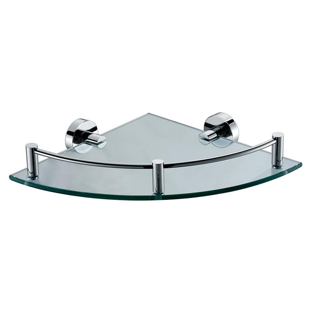 AB9546 Corner Bathroom Shelf with Sleek Modern Design in Brass
