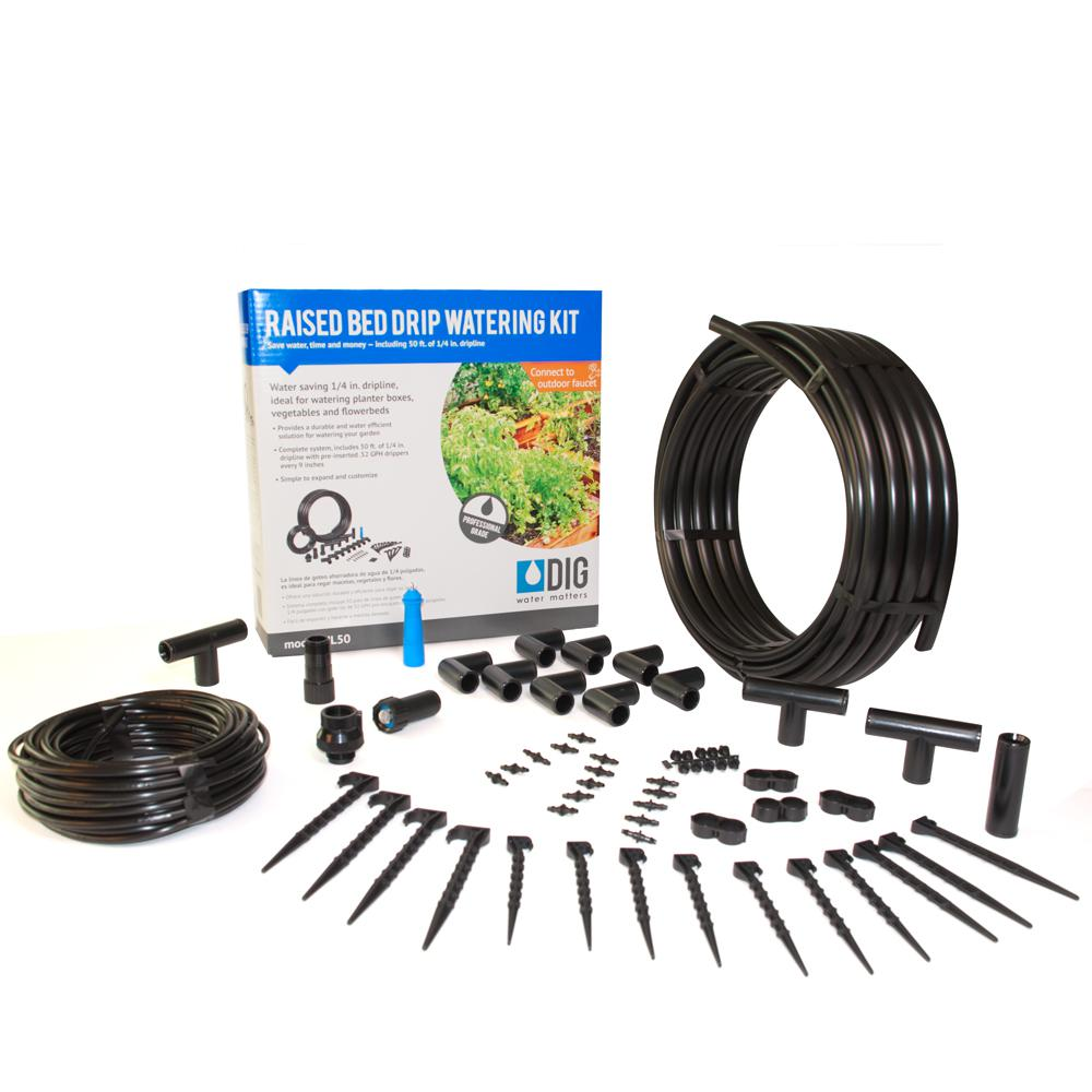 Dig raised bed garden drip irrigation kit ml the home