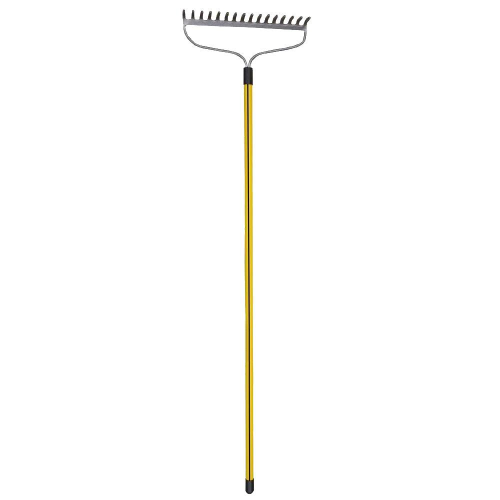 Heavy Duty 16-Tine Bow Style Rake with 60 in. Classic Fiberglass