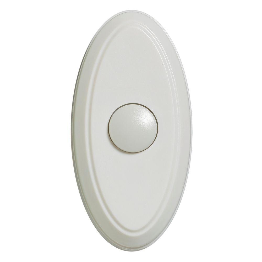 Wireless Door Bell Push Button White 216595 The Home Depot
