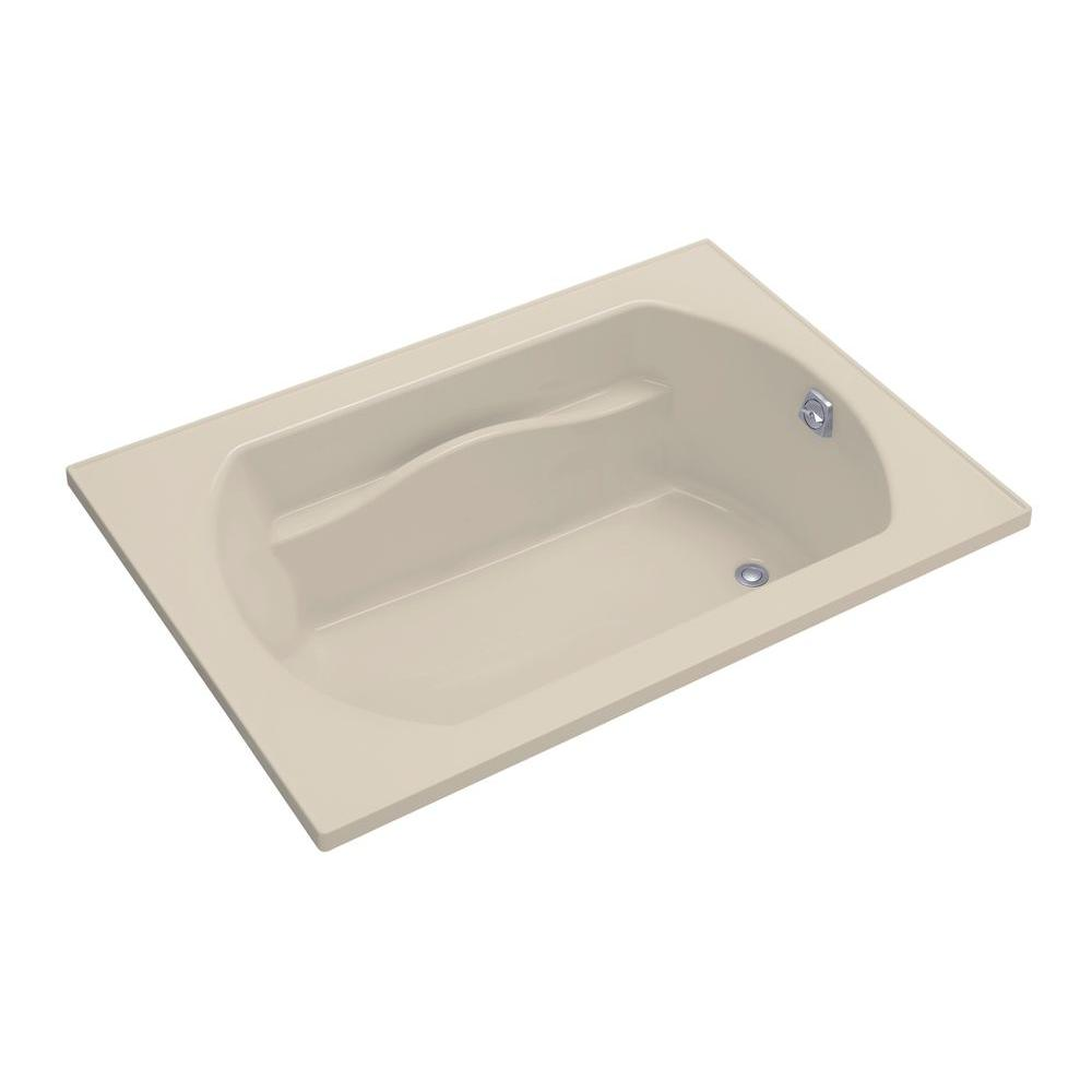 STERLING Lawson 60 in. x 42 in. Decked Drop Whirlpool Tub with Reversible Drain in Almond-DISCONTINUED