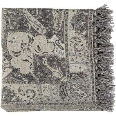 Morrie Charcoal Gray Throw
