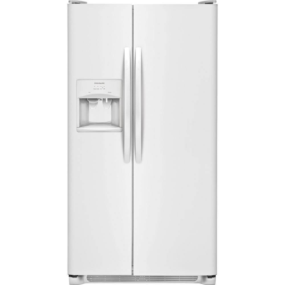 Ge 30 inch side by side white refrigerator - Side By Side Refrigerator In White