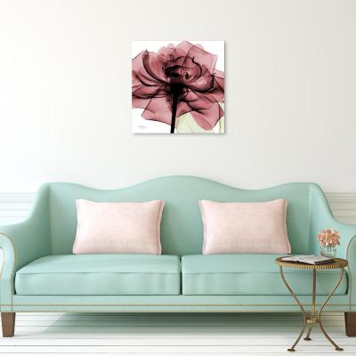 """Chianti Rose II"" Frameless Free Floating Tempered Glass Panel Graphic Wall Art"