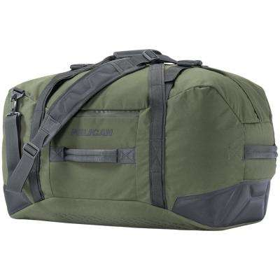9.84 in. Green Water-Resistant Duffel Bag
