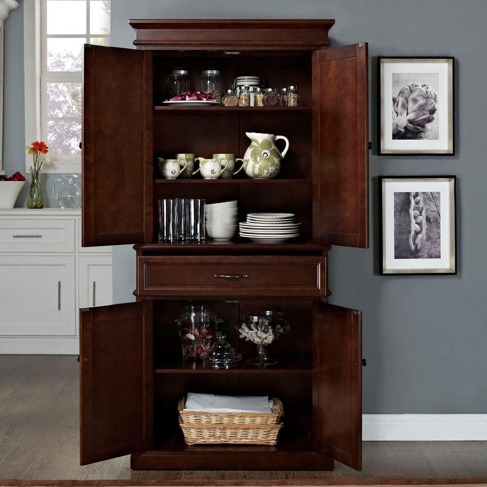 Storage Kitchen Cabinet: SAUDER Home Plus Sienna Oak Storage Cabinet-411965