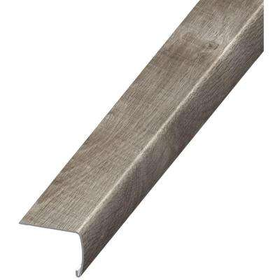 Stony Oak Grey 7 mm Thick x 2 in. Wide x 94 in. Length Coordinating Vinyl Stair Nose Molding