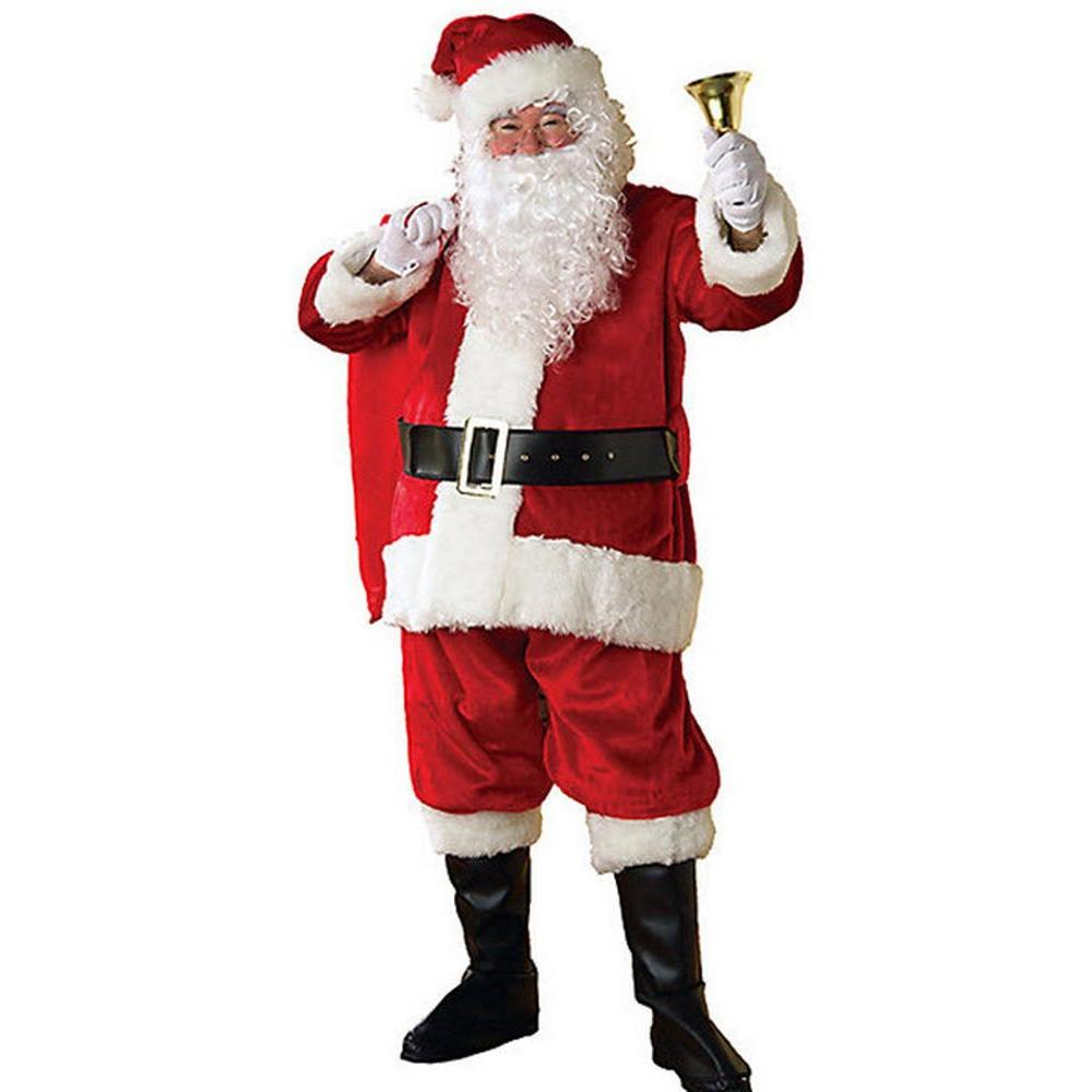 Adult XXL Regency Plush Santa Suit, Adult Unisex, Multicolor