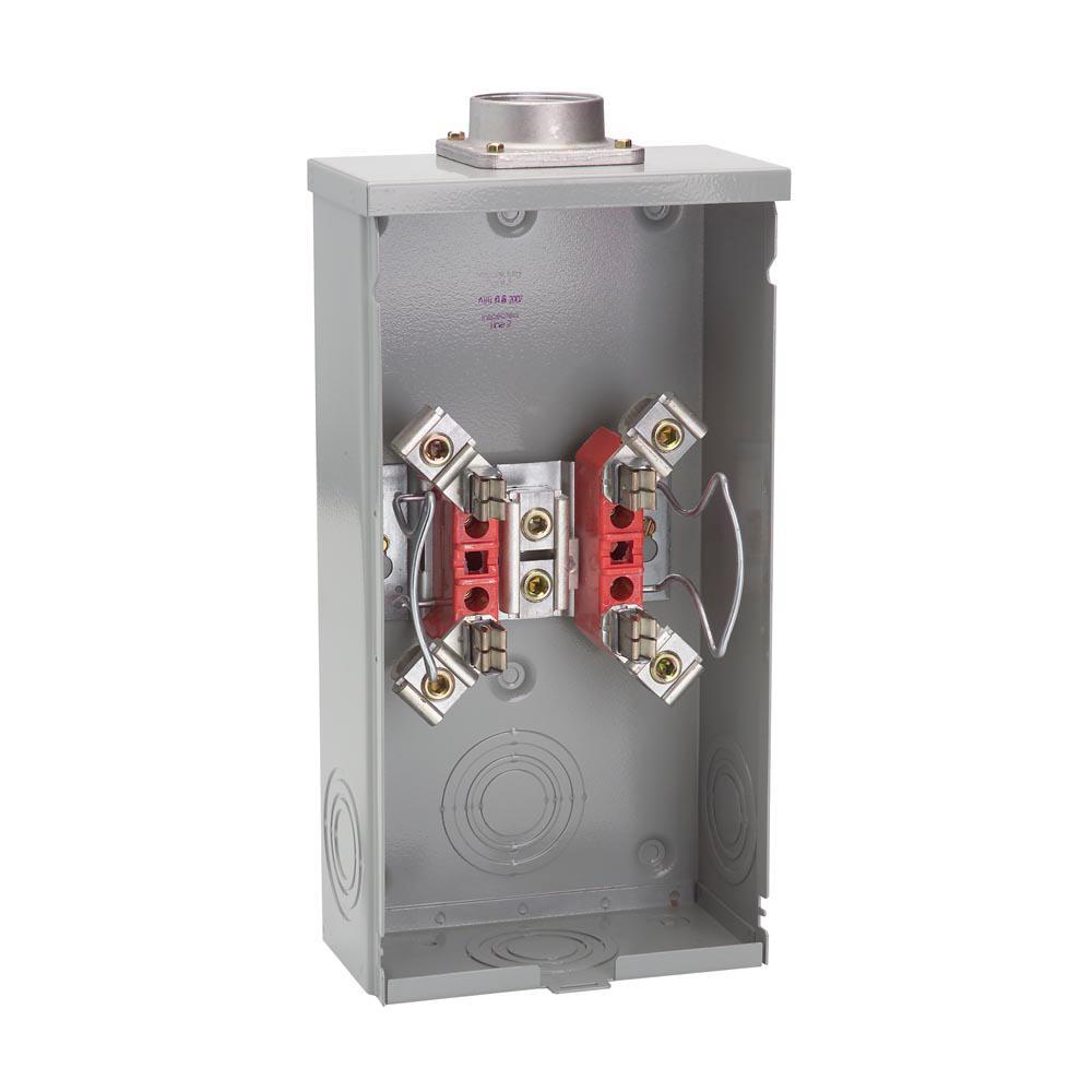 200 Amp 4-Terminal Ringless Overhead Meter Socket